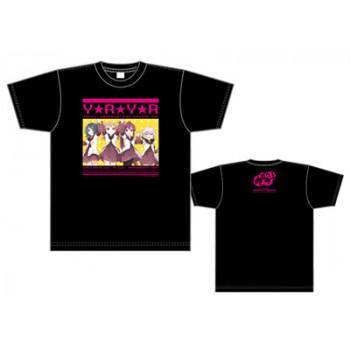 【ゆるゆり39Fes】七森中★感謝祭オフィシャルTシャツ(生徒会) 黒 L